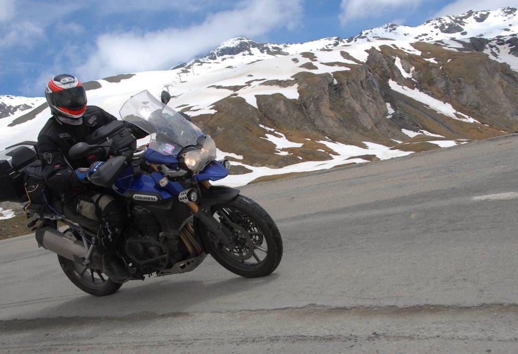 Motorbike riding in Europe