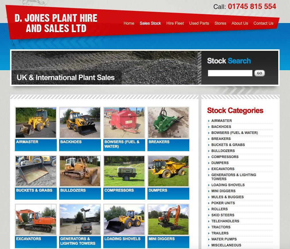 Website design - Plant hire website