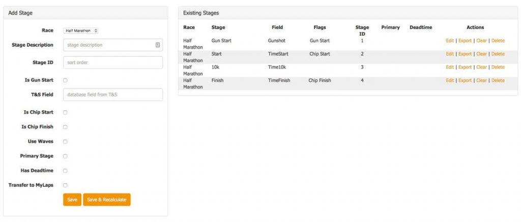 Custom software development - Race timing application